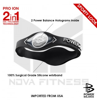 Power Balance Band with Two Holograms and Silicone